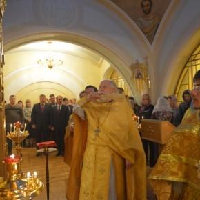 Освящение храма Воскресения Словущего при ПФР РФ
