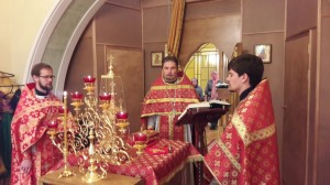 В день престольного праздника в домовом храме Воскресения Словущего при Пенсионном фонде России состоялось торжественное богослужение